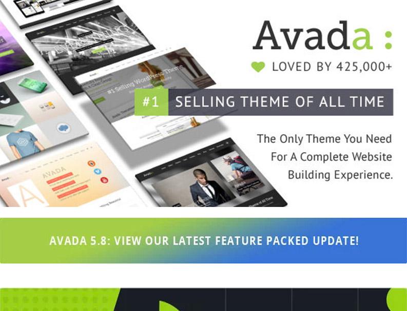 Avada v5.8.1 – 响应式多功能WordPress主题