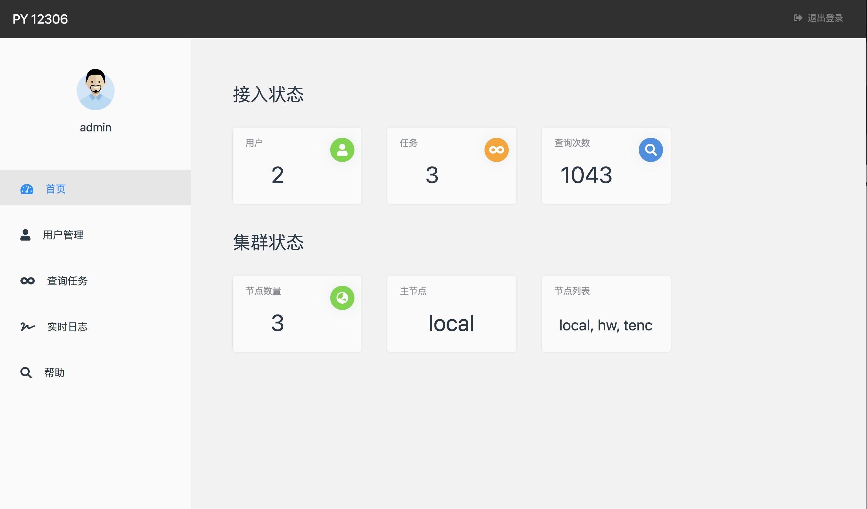 py12306:一个带Web管理界面的12306购票助手