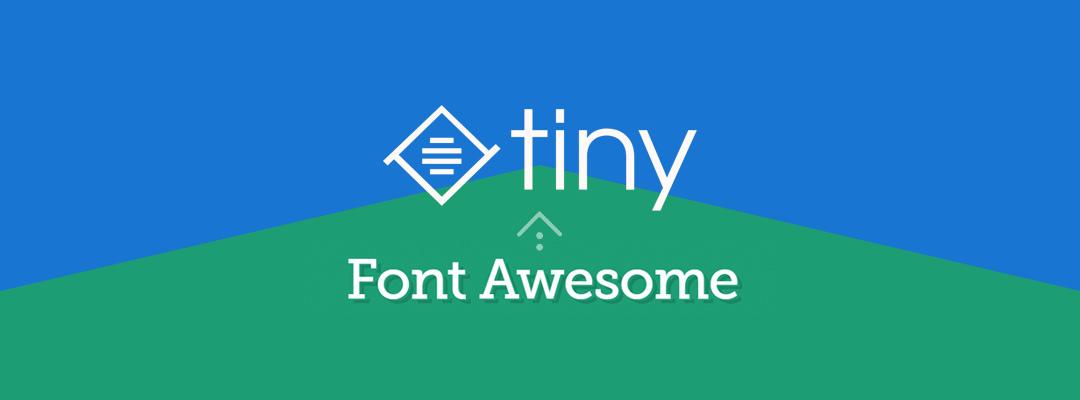 TinyMCE 编辑器添加 FontAwesome 自定义图标按钮