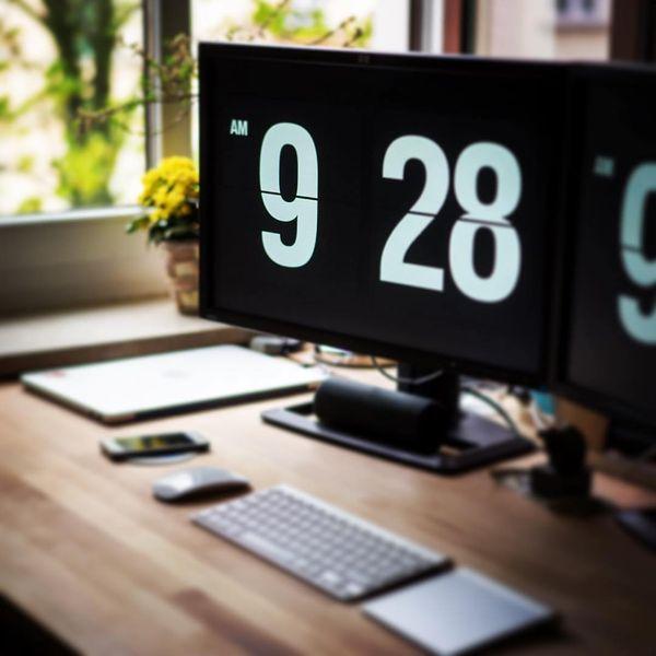 免费翻页时钟屏幕保护程序 Fliqlo(Windows/Mac适用)